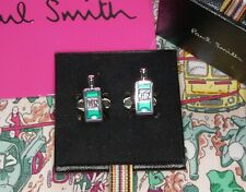 Paul Smith Cufflinks ' Gin Bottles ' Design (GENUINE) RRP £89 Enamel