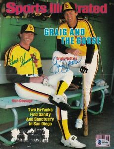 Rich Gossage+Graig Nettles Padres Signed Sports Illustrated Cover BAS