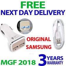 SAMSUNG GALAXY S7 EDGE IN CAR FAST CHARGE CAR CHARGER DUAL PORT& FAST USB CABLE