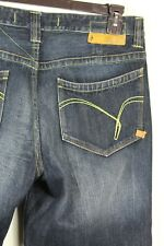 Indigo Red Mens Size 34 Dark Blue Distressed Jeans