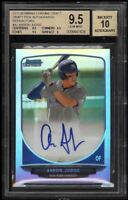 BGS 9.5 AUTO 10 AARON JUDGE 2013 Bowman Chrome Refractor Autograph RC GEM MINT