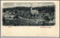 SCHIERKE b. Wernigerode Harz AK ~1900 Teilansicht Partie a.d. Kirche ungelaufen