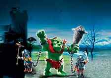 Playmobil 6004 Giant Troll with Dwarf Fighters Castle Knights Soldiers NEW