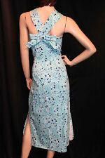XL Bust 48 Blue Atomic Bettie Page Retro Vtg 50s Rockabilly Pinup Sun VLV Dress