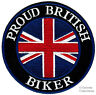 PROUD BRITISH BIKER embroidered PATCH UNION JACK FLAG iron-on UK Great Britain