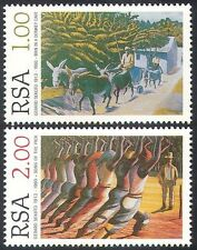 RSA 1996 Sekoto/Artists/Donkeys/Paintings/Art/Animals 2v set (n21509)