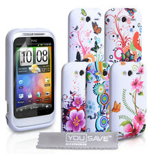 Accessories For HTC Wildfire S Stylish Floral Design Silicone Case Cover Skin