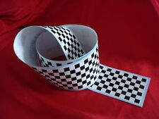 80mm x 1200mm CHECKERED TAPE CHEQUERED CHEQUER DECAL STICKER GRID LEMANS LE MANS