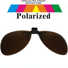 Clip on Specs Brown Car Driving Fishing Polarized Polarised Sunglasses Co11-1 S