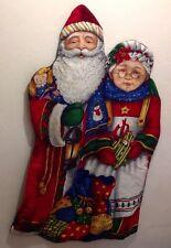 CHRISTMAS SANTA ST NICK MRS. CLAUS  HOLIDAY LARGE WALL HANGING TAPESTRY DECOR