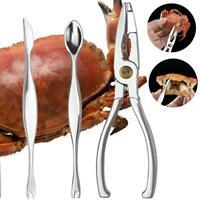 3Pcs Seafood Tools Crab Crackers Cracker Forks Opener Shellfish Lobster Best Too