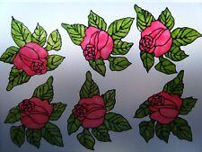 RED CORNER ROSES FLOWER WINDOW DECORATION STICKER DECAL