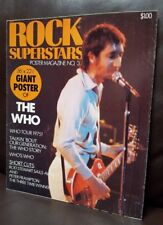 "The Who Penthouse Poster Press Rock Superstars Large POSTER MAGAZINE 36"" X 22"""