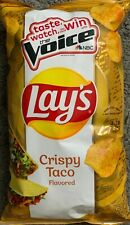NEW LIMITED ED LAYS CRISPY TACO FLAVORED POTATO CHIPS 7.75 OZ (219.7g) BAG VOICE