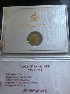 €€€ 2 euro commémorative Vatican 2013 Sede Vacant€€€