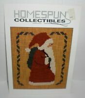 Homespun Collectibles SANTA #7 Cross Stitch Chart Pattern Christmas Toy Sack