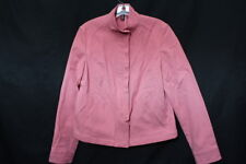 COMPANY ELLEN TRACY Pink Cotton Blend Jacket Womens Size 10 Korea-B42
