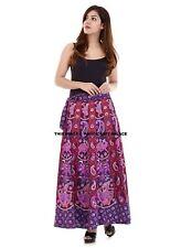 Indian Elephant Mandala Skirt Waist Skater Wrap Around Cotton Rapron Long Skirt