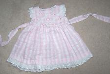 Adorable BONNIE JEAN Summer Portrait Dress Girl Size 6-9 Months