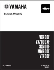 Yamaha Mountain Max / SX Viper / Venture / VMax 700 Snowmobile Service Manual CD