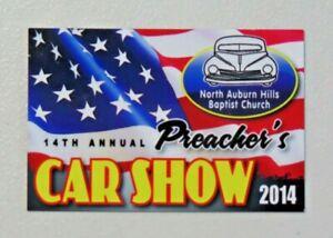 N. Auburn Hills Baptist Church 14th Annual Preacher's Car Show 2014 Dash Plaque