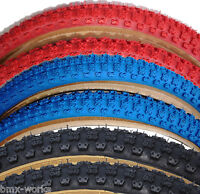 """Cheng Shin Comp 3 with Skinwall Sides BMX Tyres 20""""x 1.75"""" - Black, Blue or Red"""