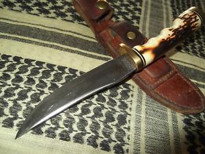 Vintage Schrade 153UH Uncle Henry Golden Spike Fixed Blade Knife Original Sheath