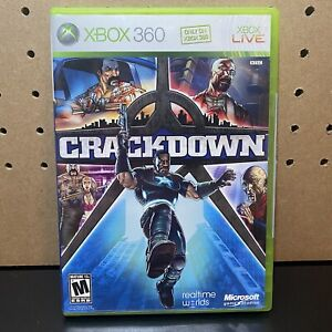 Crackdown (Microsoft Xbox 360, 2007) CIB Complete w Manual and Map - Tested