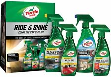 Ride&Shine Complete Car Care Kit Turtle Wax Auto Detailing Shine Wash Gift Pack