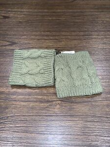 """Women's Boot Cuffs - Olive Green, 5.5"""" Long x 5"""" Wide NWT NEW"""