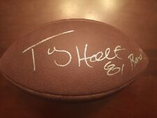 Tory Holt Signed Football St Louis Rams NC State Wolfpack COA