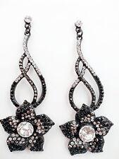 "Chic Cute Twist Dangle Floral Crystal Rhinestone 4""Long Chandelier Party Earring"