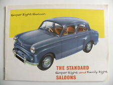 Brochure anglaise the STANDARD SUPER super eight / family eight de 09 / 1955
