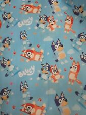 Blue dog Fabric Bingo 1m x 1.45m Poly Cotton (not stretchy) new design