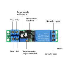 1x DC 12V Signal Trigger Delay Turn Off Delay Timer Switch Relay Module 0-25s zz