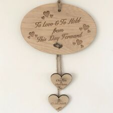 PERSONALISED TO LOVE AND TO HOLD FROM THIS DAY FORWARD WEDDING PLAQUE