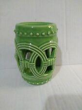 """Green Ceramic Wax Melt Tart Burner 4 3/8"""" Tall"""