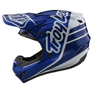 Troy Lee Designs GP Silhouette Navy White Youth Medium MX Helmet TLD Motocross
