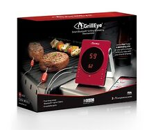 GrillEye Smart Bluetooth Grilling & Smoking Thermometer, Red