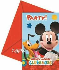 6 x Mickey Mouse Clubhouse Party Invitations...Licensed Disney