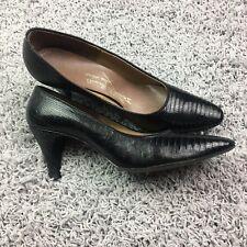 Women's size 5.5 Lizard Heels pumps Black Genuine