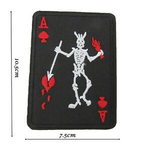 Ace of Spades Demon Iron On Patch 10.5 x 7.5cm Badge Patches Motif Fun Kids P274