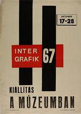 Vtg Orig. Poster Intergrafik 1967 Exhibition in the Museum