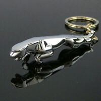 Jaguar Car Keyring Key Ring keychain 3D Metal Chrome Stainless Steel Polished OZ