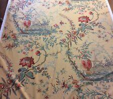 """PAVILLON DU THE"" - Designer Fabric - Made In Switzerland - C1997 - R445rl"