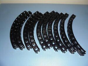 Rokenbok System Huge Lot Of Building Blocks Black Curved  10 ( 11 X 1 )