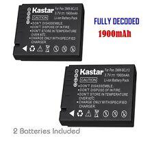 2x Kastar Battery for Panasonic Lumix DMW-BCJ13 DMC-LX5 DMC-LX7 D-Lux 5 D-Lux 6