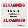 X2 PEGATINAS EL CAMPERO 80´  STICKERS  VINILO COCHE AUTO TUNING ADESIVO DECAL