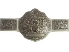 Fandu Big Silver Belt Replica Heavyweight Championship Belt 6.8 lbs 8mm Thick