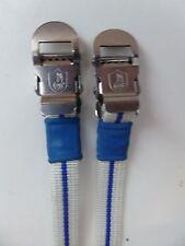 VINTAGE NOS Classic anni'80 Campagnolo Pedale Cinghie Bianco Blu 4 Colnago Bianchi